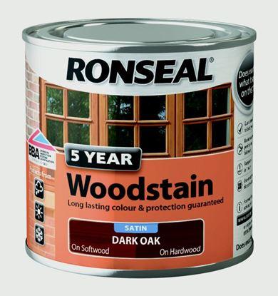 Picture of Ronseal 5 Year Woodstain 250ml Dark Oak