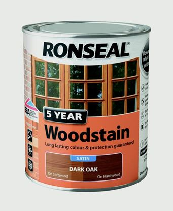 Picture of Ronseal 5 Year Woodstain 750ml Dark Oak