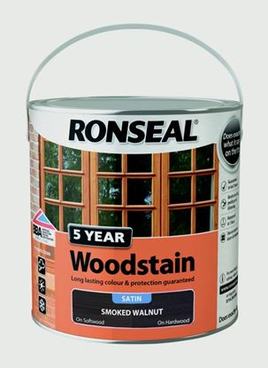 Picture of Ronseal 5 Year Woodstain 2.5L Smoked Walnut