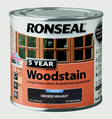 Picture of Ronseal 5 Year Woodstain 250ml Smoked Walnut