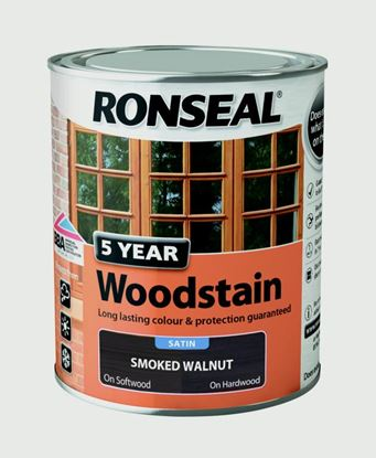 Picture of Ronseal 5 Year Woodstain 750ml Smoked Walnut