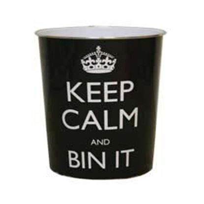 Picture of JVL Keep Calm Plastic Bin