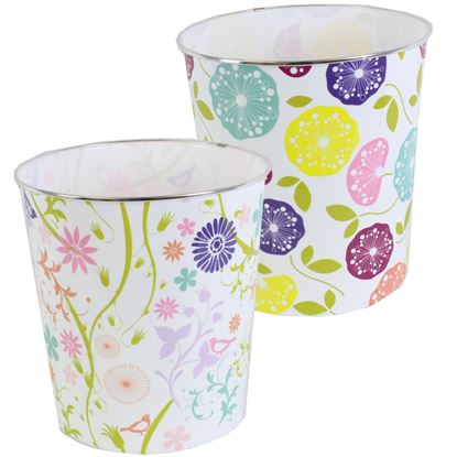 Picture of JVL Waste Paper Bin Modern Floral  Assorted