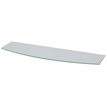 Picture of Borganised Bowed Clear Glass Shelf 80x20