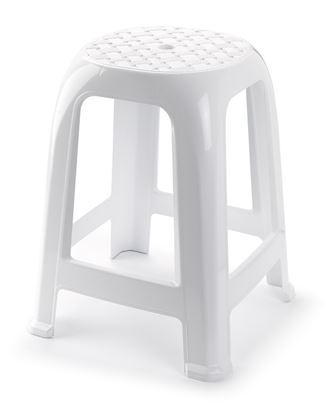Picture of Plasticforte White Stool 38 x 33cm