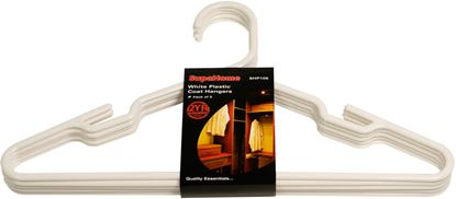 Picture of SupaHome White Plastic Coat Hangers