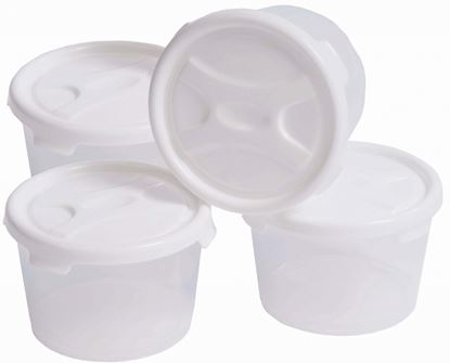 Picture of Wham Handy Pots Food Storage Set White Pack 4