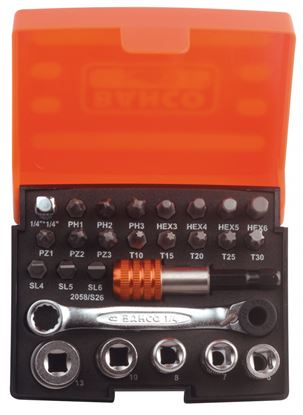 Picture of Bahco Bit Set With Bits Sockets Bit-Ratchet And Adapters