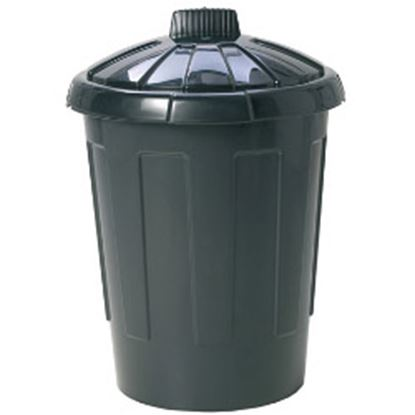 Picture of Wham Dustbin With Secure Lid 80L Black