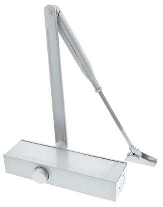 Picture of Briton Template Adjustable Door Closer Silver