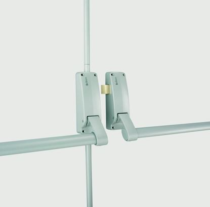 Picture of Briton Push Bar Panic Exit For Double Doors Silver