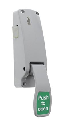 Picture of Briton Push Pad Emergency Exit Latch Silver