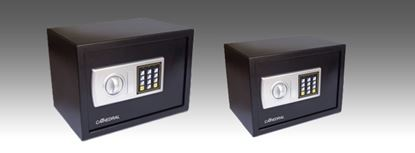 Picture of Cathedral Electronic Locking Safe Black Interior dimensions 305mm x 190mm x 195mm Weight 5kg