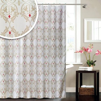 Picture of Blue Canyon Damask Shower Curtain