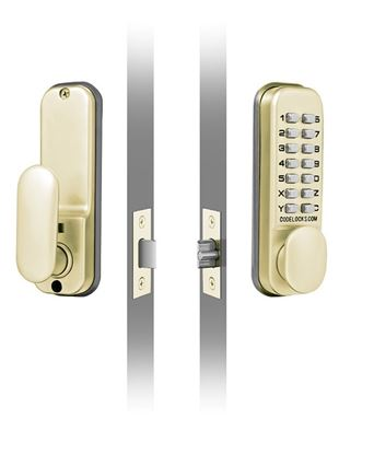 Picture of Codelocks Mechanical Deadlock With Mortice Latch Brass 60mm
