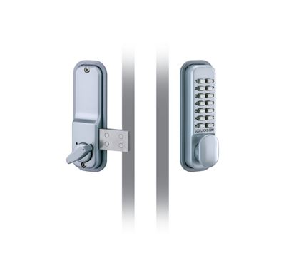 Picture of Codelocks Mechanical Deadlock With Surface Mounted Deadbolt Silver 43mm