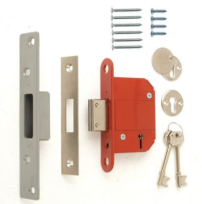 Picture of Era Fortress 5 Lever Mortice Deadlock Satin 76mm