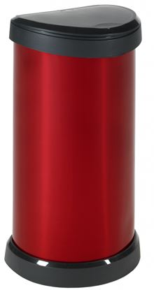 Picture of Curver Deco Touch Bin 40L Red