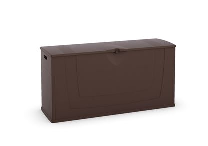 Picture of Kis Karisma Outdoor Storage Chest Brown 200L - L119 x D40 x H58