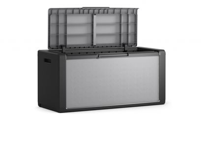 Picture of Kis Titan Outdoor Storage Chest Grey Black - 300 Litre - L118 x D49 x H55