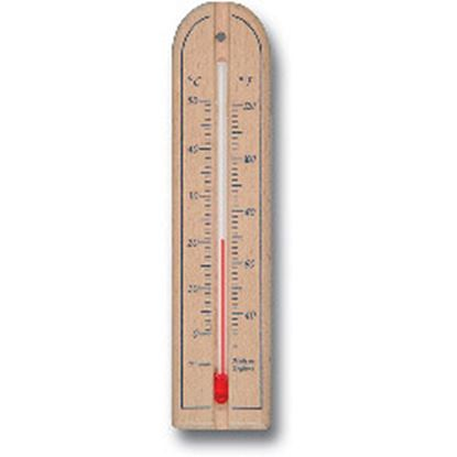Picture of Brannan Short Wall Thermometer Wood