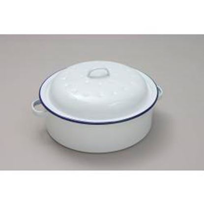 Picture of Falcon Falcon Roaster Round - Traditional White 20cm x 8.5D