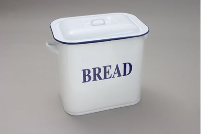 Picture of Falcon Oblong Bread Bin White 34cm