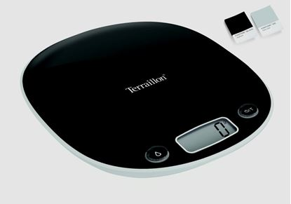 Picture of Hanson Macaroon Plastic Scale Large LCD Screen Gloss Black 5kg