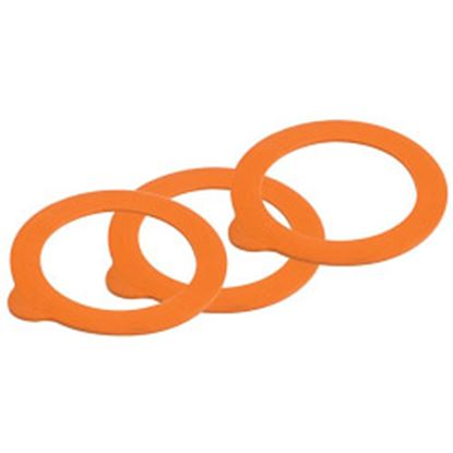 Picture of Kilner Replacement Rubber Seals - Orange 6 Piece