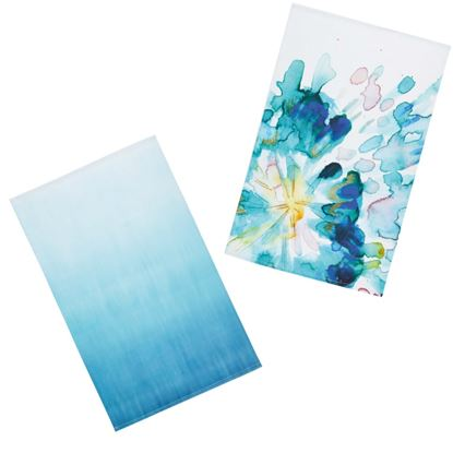 Picture of KitchenCraft Tea Towels Pack 2 Abstract Flower