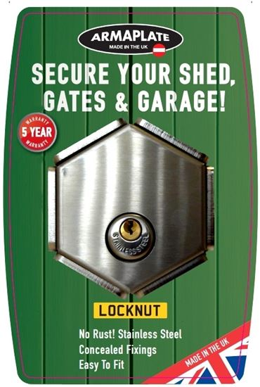 Picture of Armaplate LockNut Stainless Steel Shed-Lock 90mm