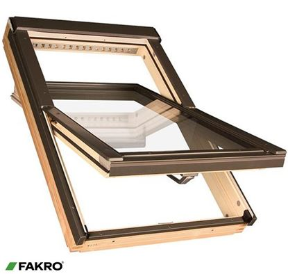 Picture of Fakro Pine Centre Pivot Window 79x98