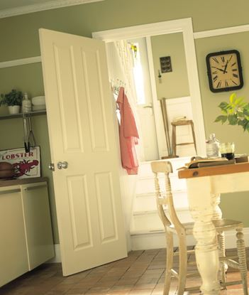 Picture of Jeld Wen Four Panel Grained Moulded Fire Door 30