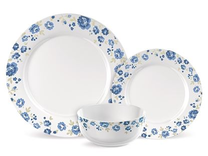 Picture of Creative Tops Blue Floral Dinner Set 12 Piece