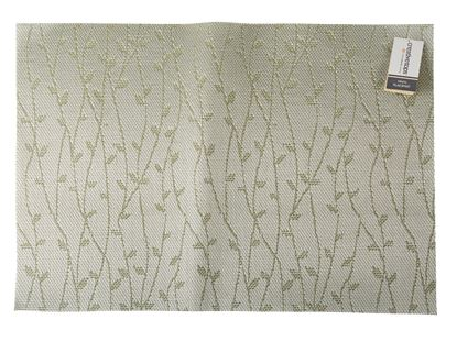 Picture of Creative Tops Premium Vinyl Placemat Green  Silver Sprig