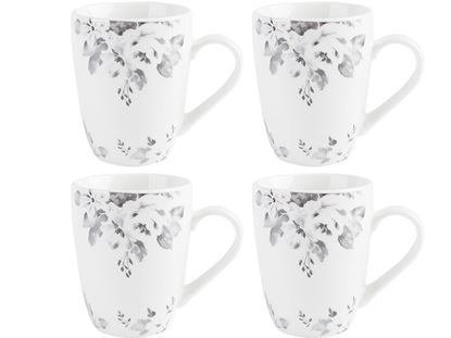 Picture of Creative Tops Floral Mugs Grey Set 4