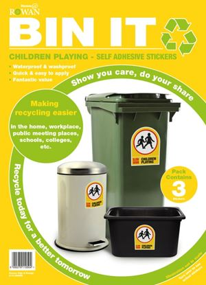 Picture of Bin It Children Playing Recycling Stickers Pack 3