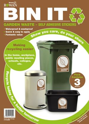 Picture of Bin It Garden Waste Recycling Stickers Pack 3