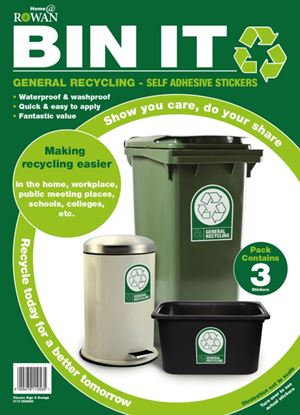Picture of Bin It General Recycling Stickers Pack 3