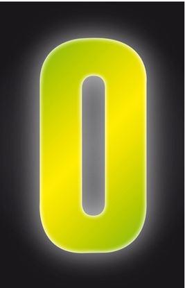 Picture of Classic Designs Hi Vis Yellow Wheelie Bin Number 0