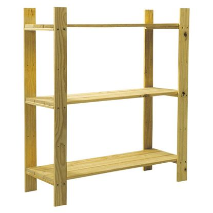 Picture of Core Natural Wood 3 Shelf Slatted Storage Unit