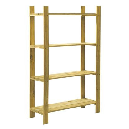 Picture of Core Natural Wood 4 Shelf Slatted Storage Unit