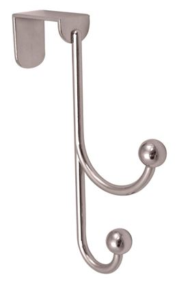 Picture of Headbourne 2 Polished Chrome Ball Hooks Over The Door Hanger 20 x 155mm