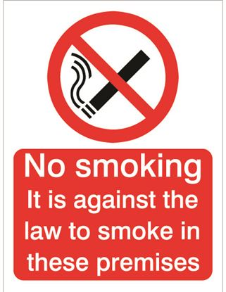 Picture of House Nameplate Co Against The Law Smoking 15x20cm