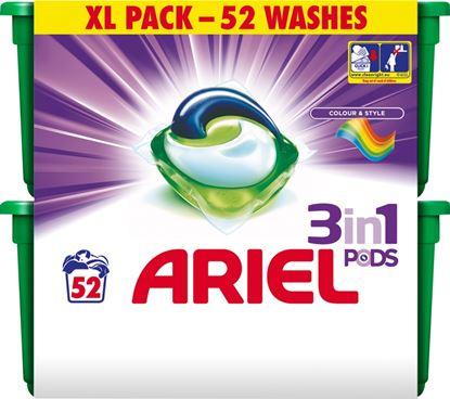 Picture of Ariel Non Bio 3 in1 Pods Colour Pack 52
