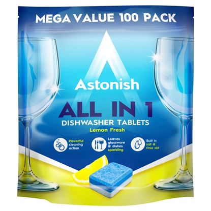 Picture of Astonish All In 1 Dishwasher Tablets Pack 100