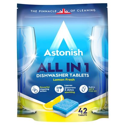Picture of Astonish 5 In 1 Dishwasher Tablets - Lemon 42 Tabs