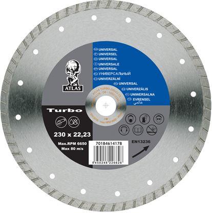 Picture of Atlas Diamond Blade - Universal Turbo 300 x 7 x 3.2 x 20mm