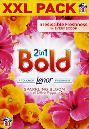 Picture of Bold Washing Powder 80 Wash Sparkling Bloom  Yellow Poppy