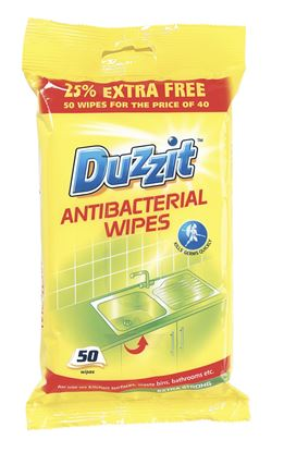 Picture of Duzzit Anti-Bacterial Wipes 50 Pack
